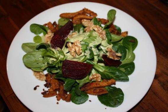 Feldsalat mit Roter Beete