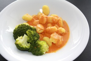 Gnocchi mit Paprikasauce